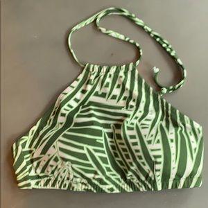J Crew Palm Print Bikini Top